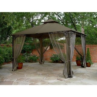 Garden oasis higgins gazebo replacement canopy for Outdoor furniture gazebo