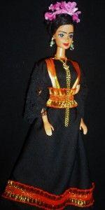 Frida Kahlo Mexican Artist Hispanic OOAK Barbie Doll