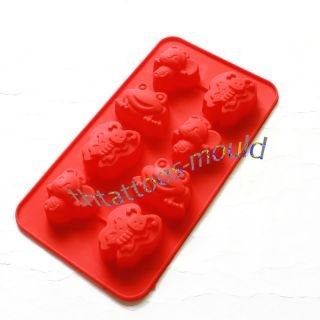Hot Silicone Frog Bee Animals Chocolate Cake Soap Baking Molds Moulds