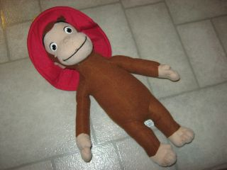Kelly Toy Firefghter Fireman Curious George Monkey plush stuffed