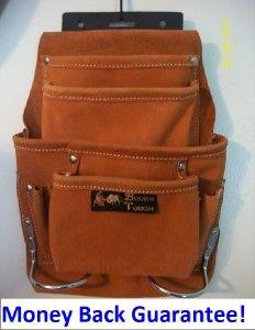 Best Tool Bag 10 Pocket Suede Leather Apron Carpenter Tough Nail Belt