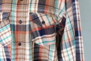 Vtg 70s Frostproof Plaid Flannel Shirt Men Large Grunge Punk