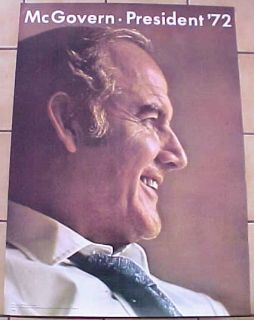 Mint Original George McGovern Poster from 1972 Presidential Campaign