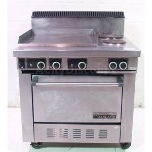 USED GARLAND S686 COMMERCIAL ELECTRIC CONVECTION OVEN W FLAT GRILL / 2
