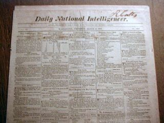 1818 Newspaper w Death of George Rogers Clark Revoluiotnary War