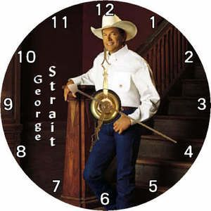 Brand New Country Singer George Strait CD Clock