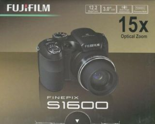 Brand New Fujifilm FinePix S1600 Camera Black in Box