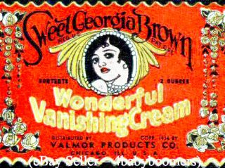 Sweet Georgia Brown Black Americana Beauty Bottle Label