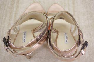 Vera Wang Lavender Garmin Jeweled Crystal Leather Sandals Heels Size 9