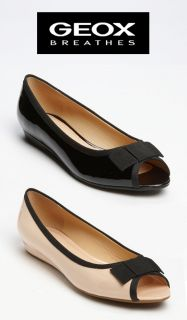 New 2012 Geox Donna Fragrance Ladies Patent Leather Ballet Flat Shoes