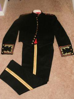 Vintage 1960s USMC Lt Colonel Uniform Evening Dress Jacket Pants 40 42