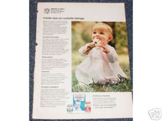 1964 Ad Gerber Baby Food Cereal Foods Daisy Flower