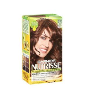 Garnier Nutrisse 535 Medium Golden Mahogany Brown Haircolor (Pack of 4