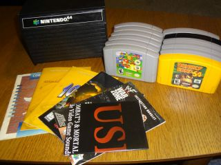 Nintendo 64 N64 12 FUN GAMES Lot Mario Donkey Kong Goldeneye
