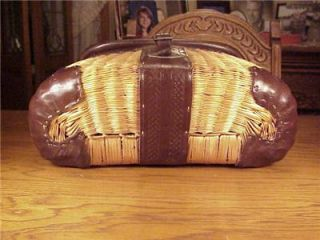 George Lawrence Model 3A Leathered Split Willow Basket Creel