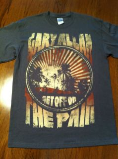 Gary Allan Get Off on The Pain Concert Tour T Shirt Size Medium