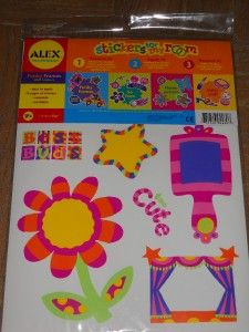 ALEX FUNKY FRAMES WALL STICKERS FOR MY ROOM DECALS 50+ FLOWER CAR STAR