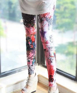 CA897 Fashion Lady Punk Funky Sexy Leggings Stretchy Tight Pencil