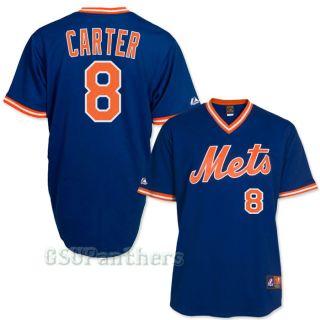 Gary Carter New York Mets 1986 Cooperstown Royal Blue Jersey Sz M 2XL