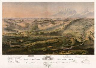Gettysburg Map July 1 2 3 1863 Civil War Bachelder