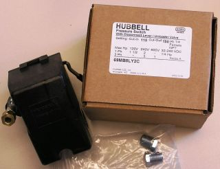 Furnas Hubbell 69MB8LY2C Air Compressor Pressure Switch 115 150PSI