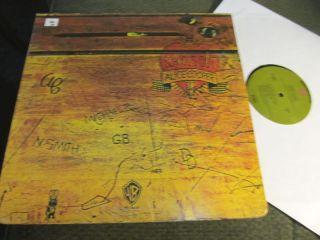 Alice Cooper Schools Out LP 72 Green LBL Die Cut Goth Glam Rock
