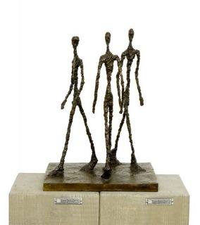 Art Bronze Sculpture Three Men Walking Giacometti Signed