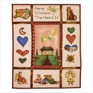 Country Home Pattern Soft Fleece Throw Sofa Blanket