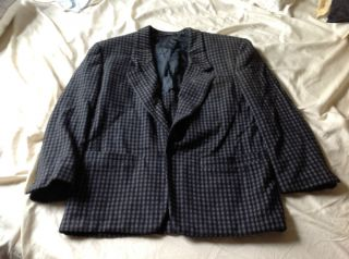 Vintage Gianni Versace Made in Italy Black Check Blazer