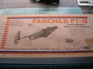 RC airplane kit, Fairchild PT 19 Chck Hollingers Giant 1/6 Full Scale