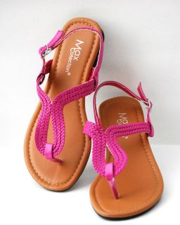 Gladiator Roman T Strap Strappy Fux Leather Braid Flat Sandals Shoes