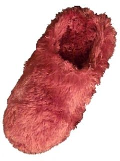 Womens Fuzzy Pink Purple House Slippers 5 6 Free SHIP