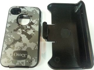 Brand New Otterbox Defender Apple iPhone 4S 4 4G w Clip Grey Digi