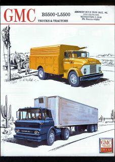 1962 GMC Trucks Tractors Series B5500 L5500 Dealer Brochure