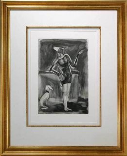 Georges Rouault Original Numbered Edition RARE Etching Juggler and Dog