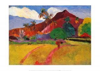 Paul Gauguin Tahitian Landscape Handmade Art Oil Painting repro