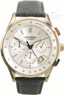 Gents Sekonda Watch Rose Chrono Model 3847 RRP £59 99