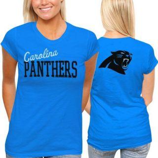 Carolina Panthers Womens Game Day T Shirt Panther Blue