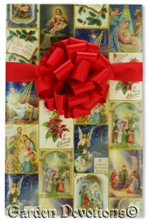 Christian Gift Wrap Vintage Nativity Collage Wrapping Paper