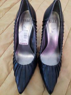 Womens Elle Black Georgina Heels Shoes stilettos Size 7M Great Holiday
