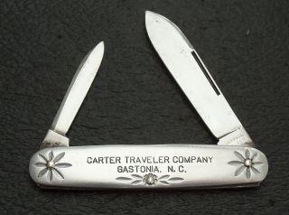 Schrade Walden NY USA Pocket Knife Cater Traveler Co Gastonia