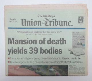 1997 Mansion of Death   HEAVENS GATE CULT, MASS SUICIDE San Diego
