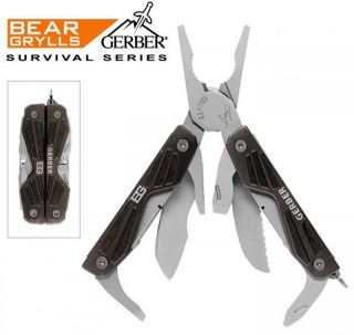 Gerber Knife Bear Grylls Compact Survival Hunting Hiking Camping Multi