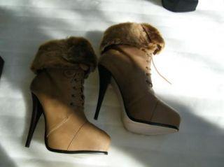 BEBE Shoes Sandals Heels Platforms Gabrielle Tan Brown