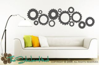 Gear Head Sticky Vinyl Letters Wall Decals Stickers 469