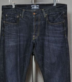 Gilded Age Jeans Straight Leg Button Fly Made in Italy $200 Mens 34 34