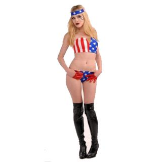 click an image to enlarge lady gaga red american flag costume size