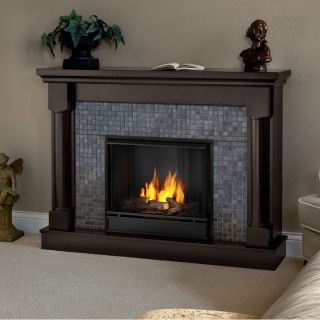 Real Flame Bennett Portable GEL Fireplace Heater WALNUT Realflame Free