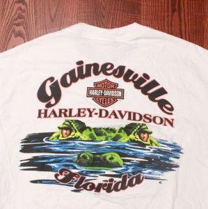 Harley Davidson Motorcycles Gainesville Florida Gator Eyes Logo White