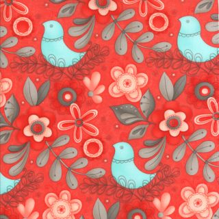 Moda Flirt Large Floral Rose Red 17701 12 Fabric Sandy Gervais